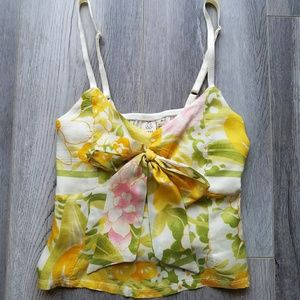 Urban Outfitters Renewal Satin Bow Cropped Cami